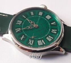 Extremely Rare MOLNIA 3602 Genuine SSSR Pocket Watch Converted Into Green Gleam