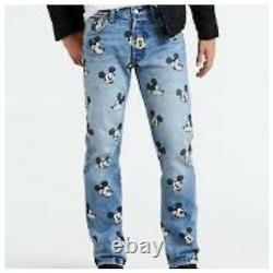Extremely Rare Mickey Mouse 90th Anniversary Levis Denim Jeans Disney 501 NWT