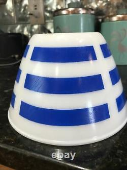 Extremely Rare (Opalex) Bold Blue Striped Bowls