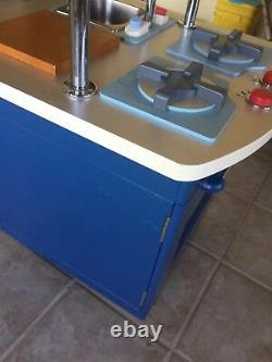 Extremely Rare Pottery Barn Kids Blue Kitchen Stove