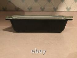 Extremely Rare Pyrex Solid Black 575 Space Saver And Lid. 1 Of Only 2 That Exist