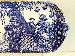 Extremely Rare Royal Crown Derby Blue Mikado Sandwich Tray Date Code 1932