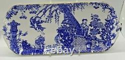 Extremely Rare Royal Crown Derby Blue Mikado Sandwich Tray Date Code 1956