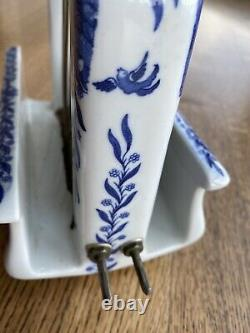 Extremely Rare Toastrite Blue Willow Ceramic Electric Toaster