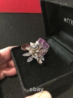 Extremely Rare Vintage 14K EFFY Sapphire & Diamond Ring, New WithOriginal Tags