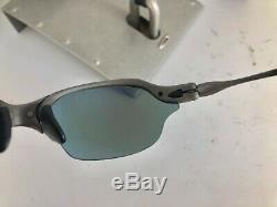 Extremely Rare Vintage Beautiful Oakley Romeo 2 X Metal / Saphire Blue