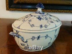 Extremely Rare Vintage Royal Copenhagen Blue Fluted #214 Tureen & LID 1/214