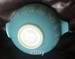 Extremely Rare Vtg. Pyrex Amish Butterprint 29 Cinderella Bowl 444 Pre-preowned