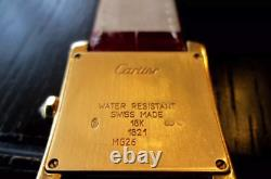 Extremely rare Cartier Tank Francaise 1821 Medium 18K gold watch