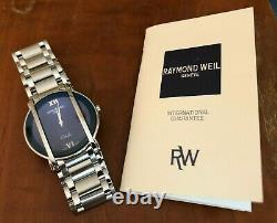 Extremely rare Raymond Weil Othello All Stainless Steel Men`s Watch Blue Dial