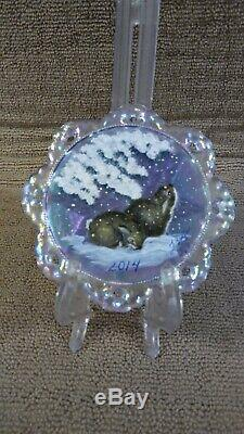 Fenton Blue Irridescet Ornament Extremely Rare Ltd #3/5
