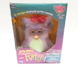 Funky furby 2006 emoto tronic 62169 purple blue eyes BOXED EXTREMELY RARE