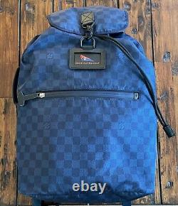 Genuine Louis Vuitton Cup Back Pack in Navy Blue Damier Nylon Extremely RARE