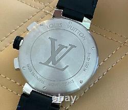 Genuine Louis Vuitton Tambour Chronograph Q102V Extremely RARE Stunning Auto 44