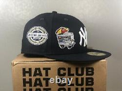 Hat Club Exclusive New York Yankees Icon Fitted Hat Size 7 3/4 Extremely RARE