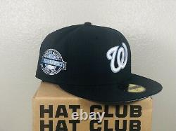 Hat club exclusive Washington National Hat Icy Blue 7 5/8 Extremely Rare