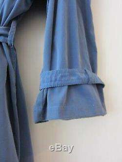 Hermes French Blue Silk Trenchcoat, extremely rare piece, super light