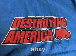 Hook Ups Skate T Shirt Vintage L Extremely Rare Authentic 90s Destroying America