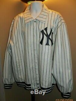 Jh Design Extremely Rare Collectible Ny Yankees Leather Jacket & Hat Mens Sz 3xl