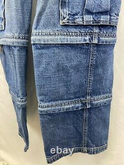 Jnco Extreme JNCO Army Twill Skater 16 Zip Offs Pants Shorts Capri Rare