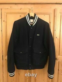 Lacoste Live Varsity Bomber Jacket Blue Extremely Rare Ltd Edition Vintage