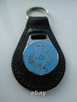 Les Leston car racing keyring/keyfob 1970s, extremely rare in blue