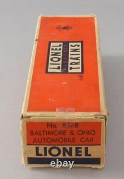 Lionel 6468 Baltimore & Ohio Tuscan Double Door Boxcar Extremely RARE! EX/Box