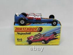 Matchbox Lesney Superfast No64 SLINGSHOT EXTREMELY RARE DARK BLUE MET WOW