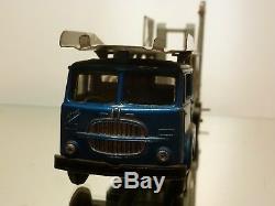 Mercury 95 Fiat 682 Car Transporter Blue + Grey 145 Extremely Rare Good