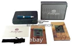 Montegrappa Blue Symphony Celluloid Ballpoint Pen Extremely Rare