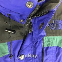 NORTH FACE Jacket Mens Medium Ski Parka EXTREME Gear 90s Vtg RARE! Black EUC