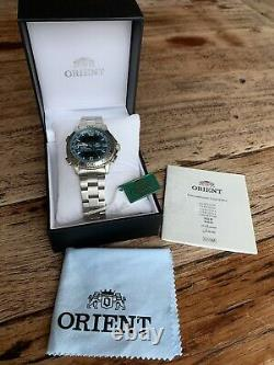 NWT! EXTREME RARE Orient Aerospace Navitimer Homage BLUE Dial LAST ONE