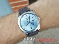NWT! EXTREME RARE Seiko 5 SNXA05 ICE SKY BLUE DATEJUST Rare NOS