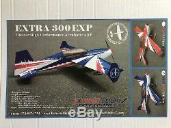 New Rare 78 Extreme Flight Extra 300 Exp Rc Blue/ Red/ White