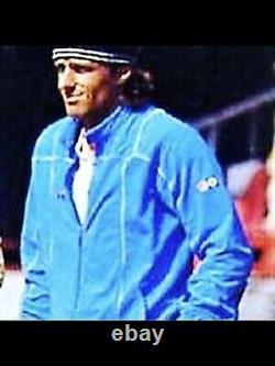 ORIGINAL FILA BJ TERRINDA BLUE 80s EXTREMELY RARE WHITE ZIP LARGE BORG SETTANTA
