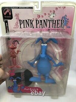 Pink Panther Aardvark and Ant Blue figure Palisades Extremely Rare open bubble