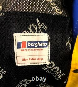 Rare Vintage Berghaus Aksu Extreme 7000 Yellow / Blue Gore-tex Jacket Size XL