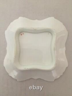 Rockingham Porcelain Extremely Rare Ornamental Dish Encrusted Flowers C1825