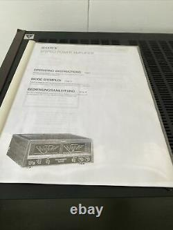 SONY TA-N77ES POWER AMPLIFIER With MANUAL AND NEW BLUE LED BULBS EXTREMELY RARE
