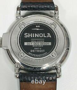 Shinola Runwell Flag Dial Watch 41mm Extremely Rare