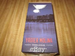 St Louis Cardinals Yadier Molina Blues Bobblehead 2017 Yadi SGA Extremely Rare