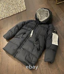 Stone Island Crinkle Reps NY Long Down Garment Dyed Large EXTREMELY RARE