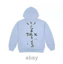 TRAVIS SCOTT x PLAYSTATION Motherboard Hoodie Size Large PS5 Blue Extremely Rare
