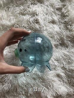 Takochu Coin Banks Extremely Rare Clear Blue and Green