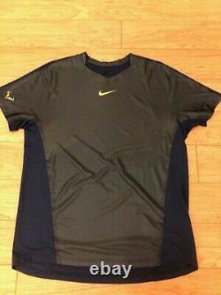 UNRELEASED! Rafa Nadal Nike WTF 2013 Crew Brave Blue/Volt Extremely Rare Federer