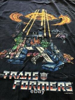 VINTAGE 1999 The Transformers The Movie t-shirt Adult Mens L Extremely Rare