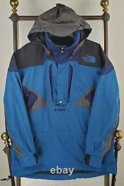 VTG 90s Rare NORTH FACE Future TNFX Large Hooded 1/2 Zip Anorak Ski Board Jacket