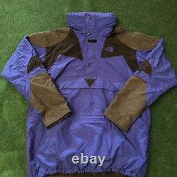 VTG The North Face Mens Large Rare Extreme Light Blue Black Parka Jacket M288