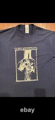 Vintage 1990s DEADEYESUNDER shirt Extremely Rare Hatebreed Connecticut Hardcore