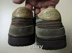 Vintage 2005 Nike Dunk Low Brown/teal Sz8 Extremely Rare